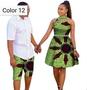 African couple Cotton clothing wax printing Women Dress, Men's Shirt Pants