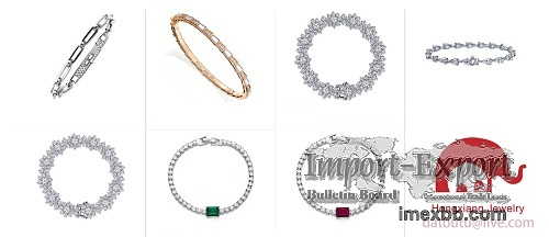 Simple design zircon bracelet gold bracelet