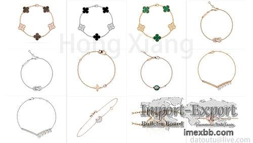 925 sterling silver rose gold bracelet new Korean style bracelet