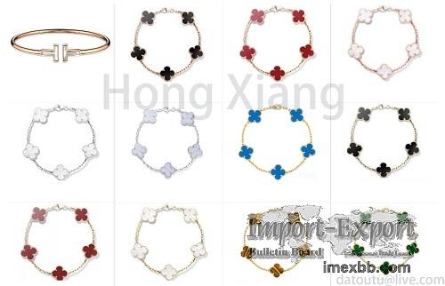 Various colors of four-leaf clover bracelets hot selling fashion bracelets