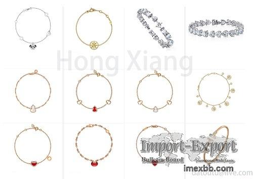 Simple bracelet 925 sterling silver rose gold bracelet