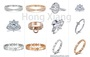 Luxury zircon ring sparkling zircon engagement ring