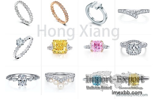 Rings with various gemstones exquisite zircon rings