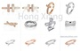 A sense of design fashionable rings suitable for dates