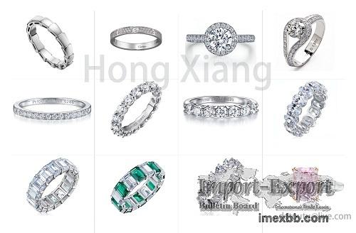 Sparkling exquisite ring wedding ring