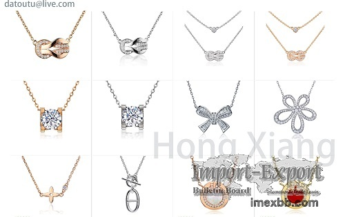 Bow knot necklace inlaid with exquisite zircon, a beautiful holiday gift