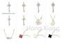 Hot Selling Key Shape Necklace Butterfly Necklace Four Leaf Clover Necklace