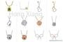 Design simple bow necklace flower necklace