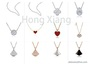 Love Pendant Sterling Silver Necklace Simple 925 Sterling Silver Necklace