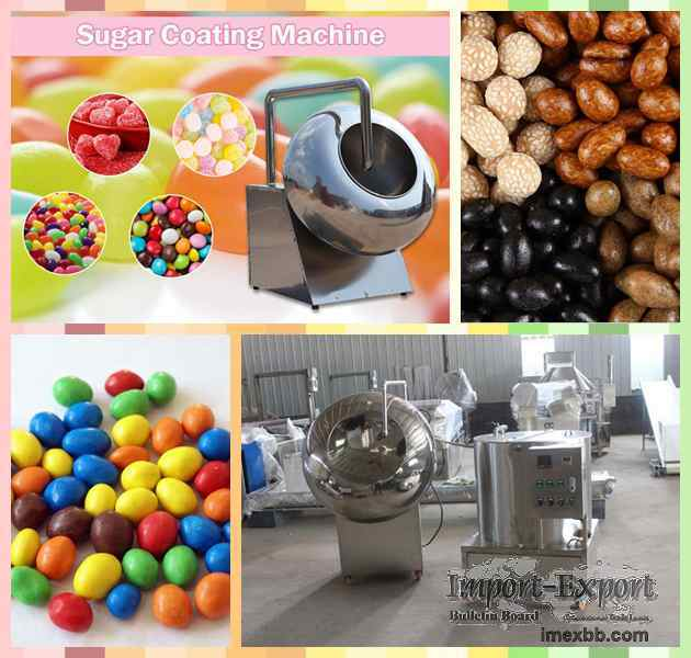 Commercial Sugar Coating Machine  Candy Peanut Chocolate Coater