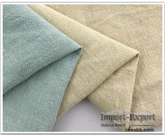100% Ramie Slub Fabric Washed Fabric clothing Fashion Apparel Fabric #R008