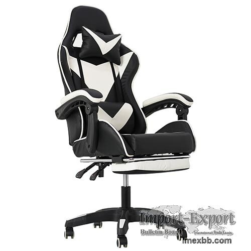 Comfortable Recling Gaming Chair With Footrest