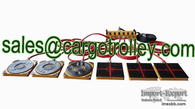Air bearing casters of four or six air modular -- Shan Dong Finer Lifting T