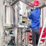 Alkaline electrolysis hydrogen generation plant