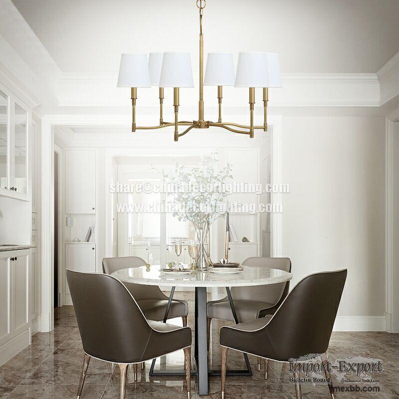 Brushed Brass Pendant Lamp Mid Century Modern Chandelier Lighting Gold Sput
