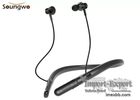 IPX7 Bluetooth 5.0 Neckband Headphones Waterproof Noise Cancelling Headphon