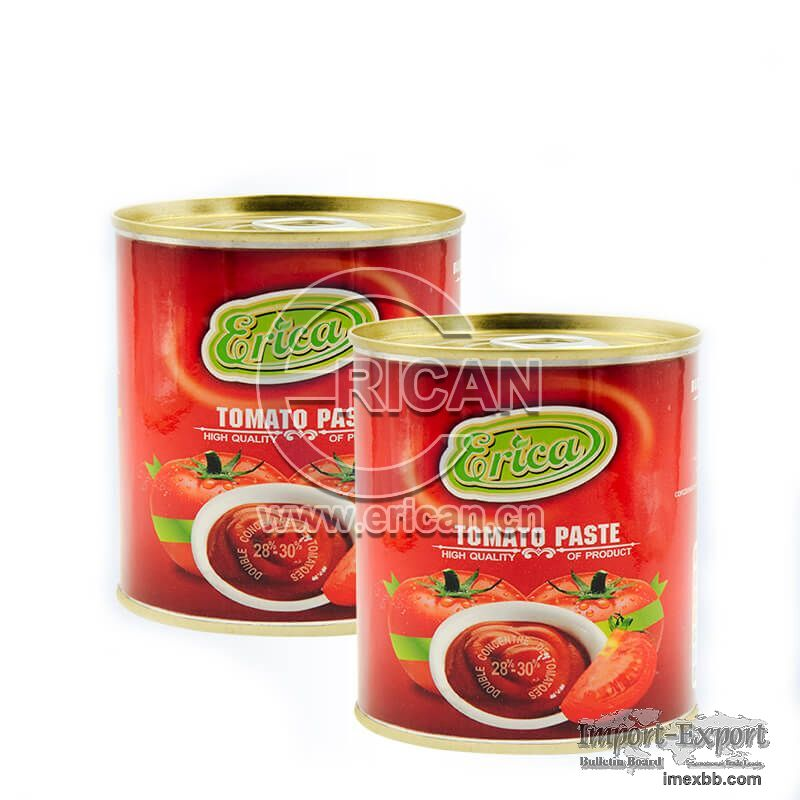 High Quality Easy Open Double Concentrated Tin Tomato Paste in Canned