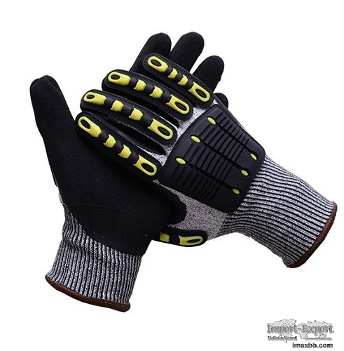 Oilfield Oil&Gas Petroleum Industrial Use TPR Cut Resistance Gloves