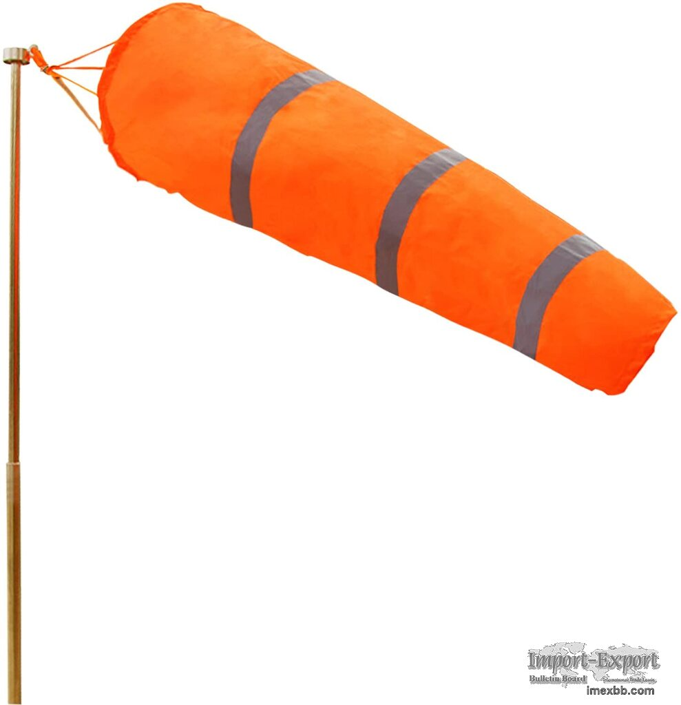 Waterproof Industry Use Orange Reflective High Visibility Windsocks