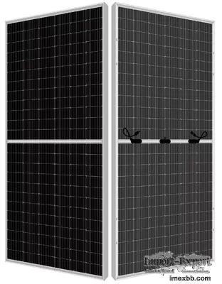 144 Cell Perc Mono Double Glass Bifacial Solar Panels On Roof 9BB M6 440 Wa