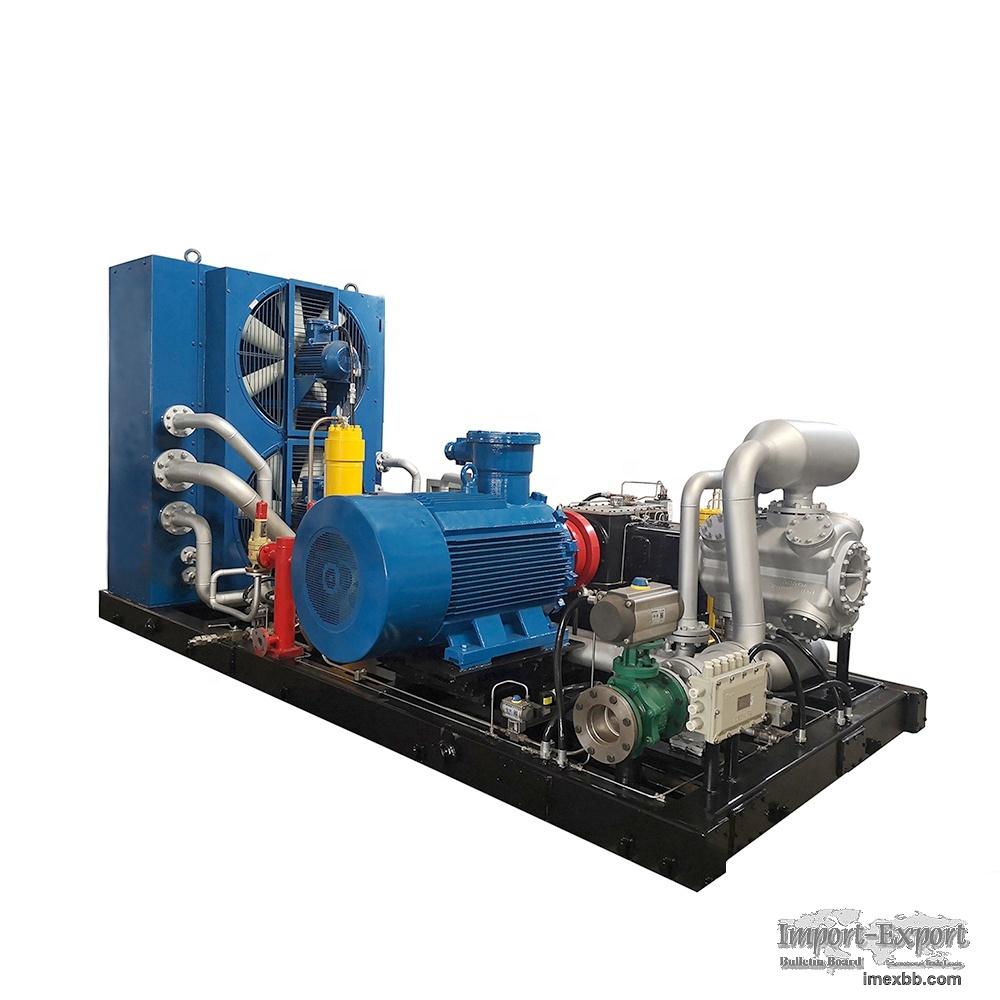 CNG compressor, dispenser for CNG refueling station