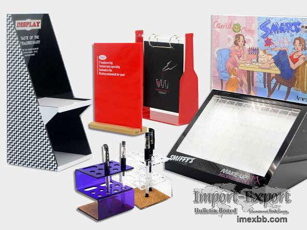 Cosmetics Display Box Mirror Surface Acrylic Perfume Display Stand With Fol