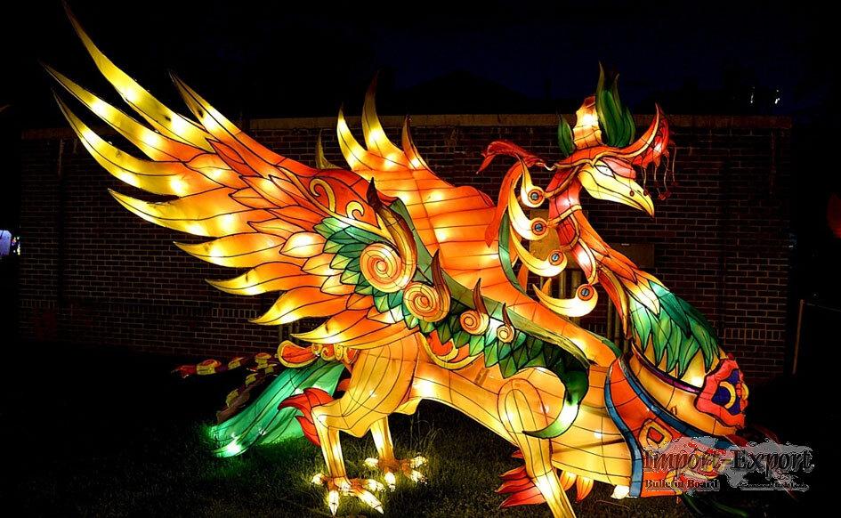 Chinese Dragon-phoenix Shapted Lantern