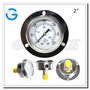 1.5 Inch 4000psi Brass Internal Dry Pressure Gauge With Front Flange