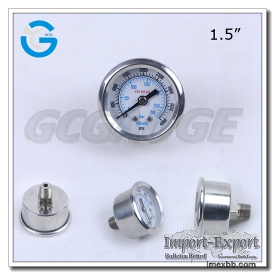 1.5 Inch Diameter 10mpa And Above All Stainless Steel Dry Pressure Gauge