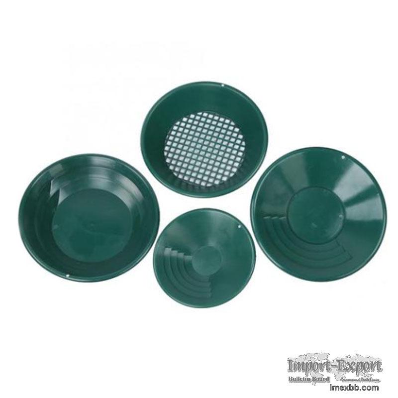 4Pcs/Set Portable Plastic Gold Sieve Panning Plate For Gold Separation