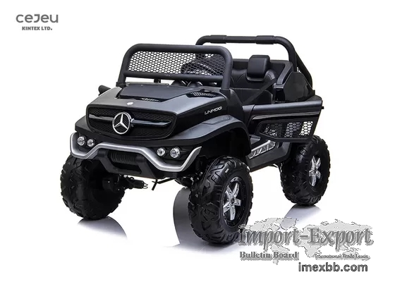 LED Lights Mercedes Benz Unimog Ride On 2 Seater With EVA Tire