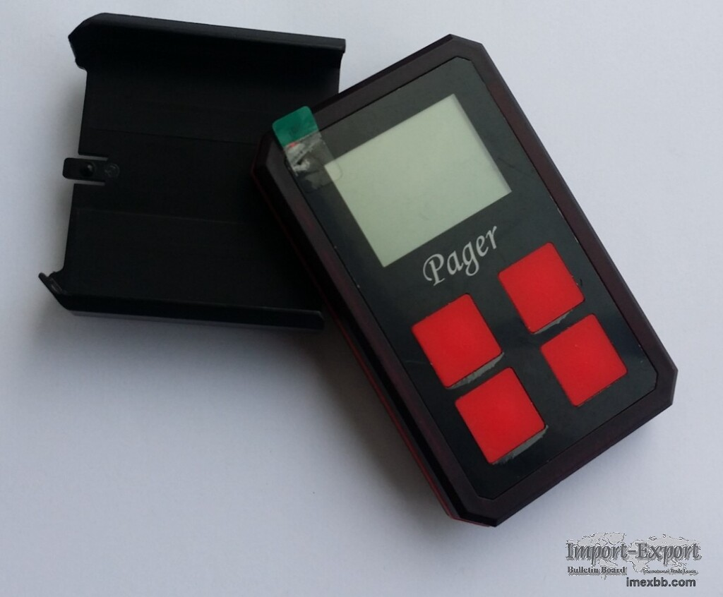 Card pager wireless paging system receiver group or individual charger