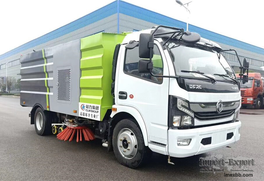 Dongfeng 5 ton road washing sweeper truck