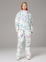 RIVIYELE Women Colorful One Piece Snowsuits Waterproof Winter Snowsuit for