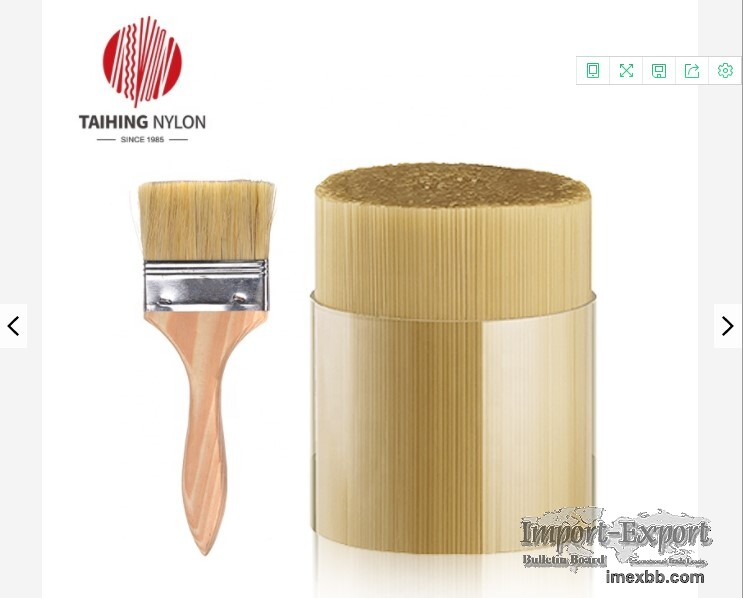 Painting Fiber Bioplastic Supplier Hollow PET Raw Filament Paint Brush