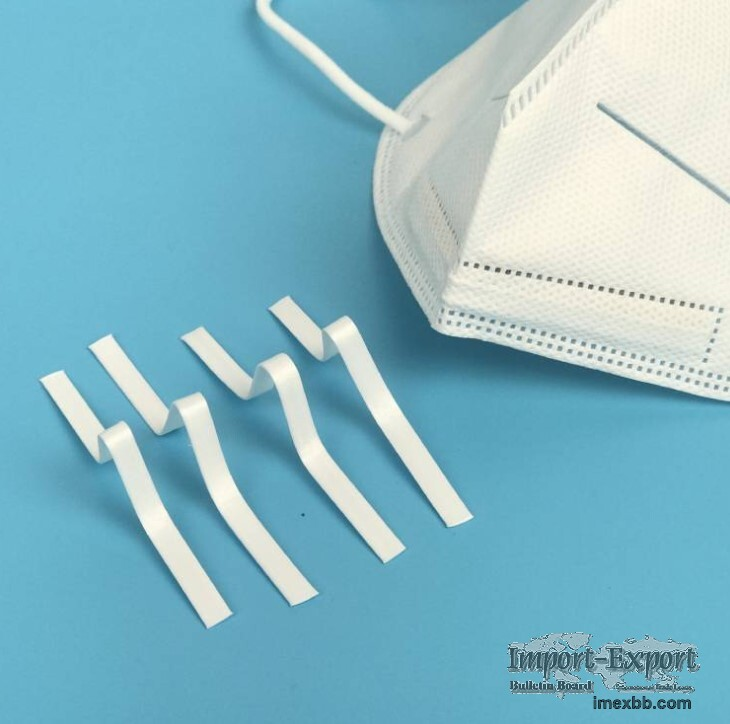 Plastic nose wire manufacturer nose bridge plastic core nose wire for mask