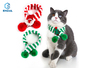Pet knitted wool striped Christmas scarf cat dog collar