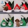 Christmas tree Christmas hat pet nest washable winter dog cat house